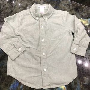 GUC Janie & Jack 2T Green chambray Button Down